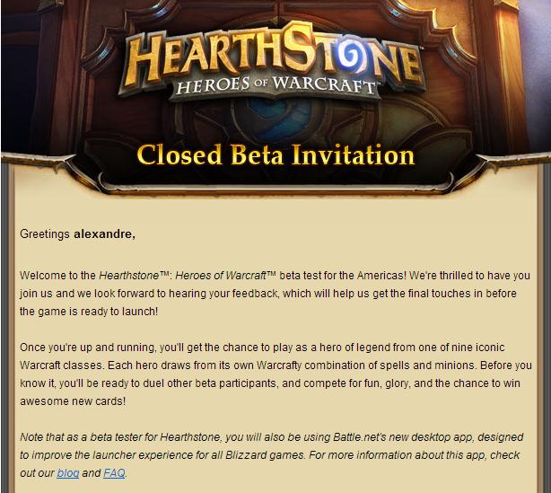 hearthstone beta invite